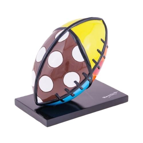 Escultura Football Sport - Romero Britto - em Resina - 14x13 cm