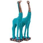 Escultura Girafas Jade em Resina