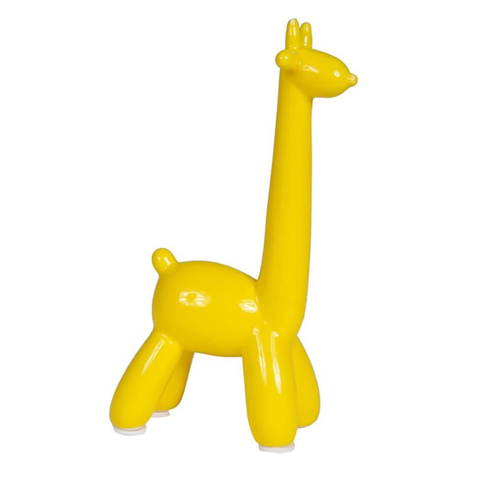 Escultura Giraffe Bladder Grande Amarelo em Cerâmica - Urban - 38x21,5 cm