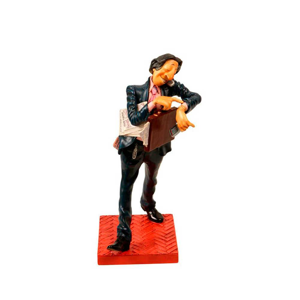 Escultura O Homem de Negócios em Resina de Guillermo Forchino - 41x21 cm