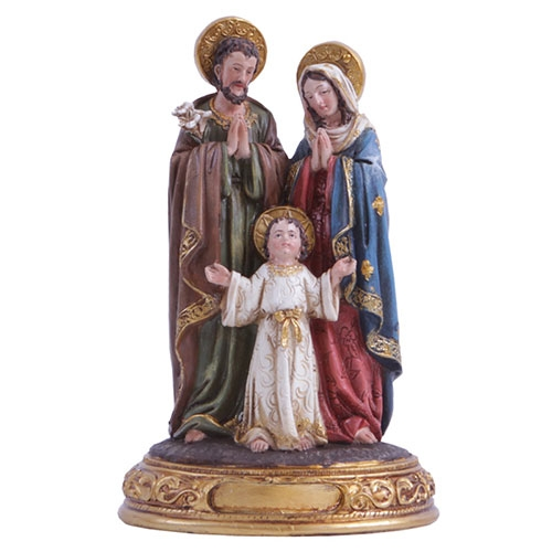 Escultura Imagem Sagrada Família em Resina - 43x21 cm