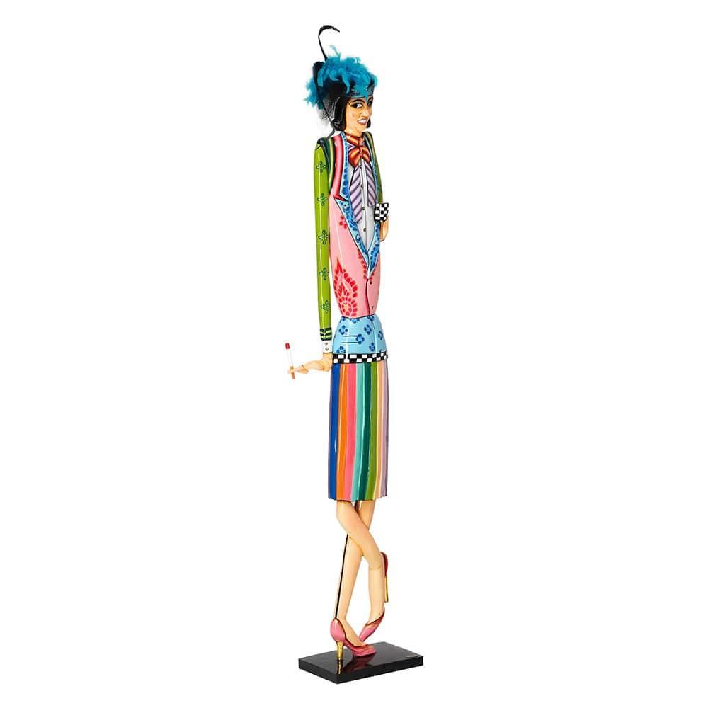Escultura Martha Multicolorida em Cerâmica - 170x32 cm