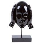 Escultura Máscara Surdo Black em Resina