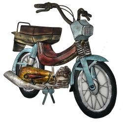 Escultura mobilete R$ 419,98 R$ 299,98 5x de R$ 60,00 sem juros