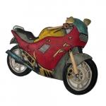 Escultura moto