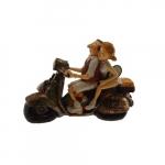 Escultura moto casal