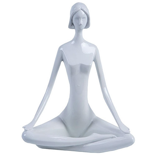 Escultura Mulher Zen em Resina - 22x17 cm