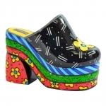 Escultura Shoes Clog - Romero Britto - em Resina