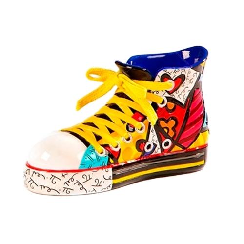 Escultura Shoes Sneaker - Romero Britto - em Resina - 13x7 cm
