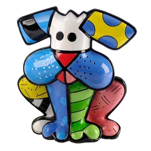 Escultura Terrier - Romero Britto - em Resina - 14x12cm