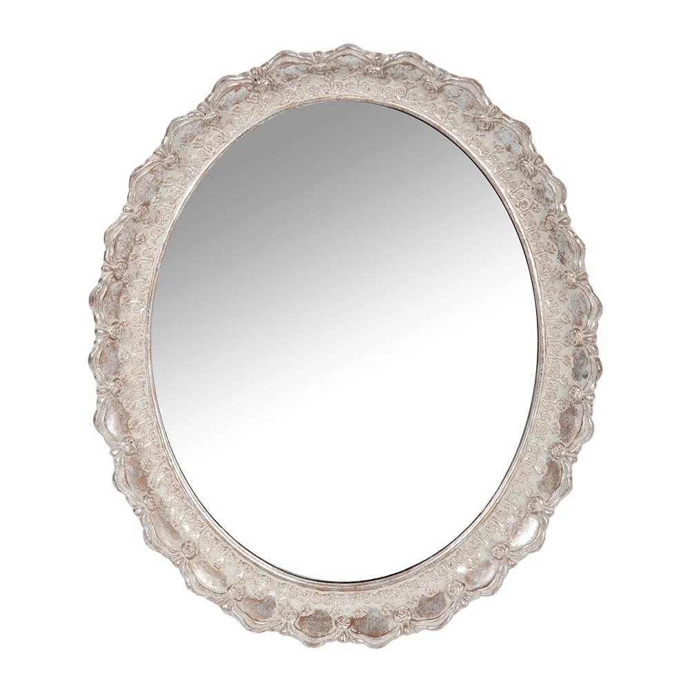 Espelho Antique Oval Cinza - 30,5x25,5 cm