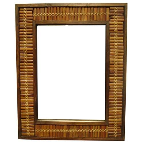 Espelho de Bambu Trama Grande Greenway - 160x80 cm