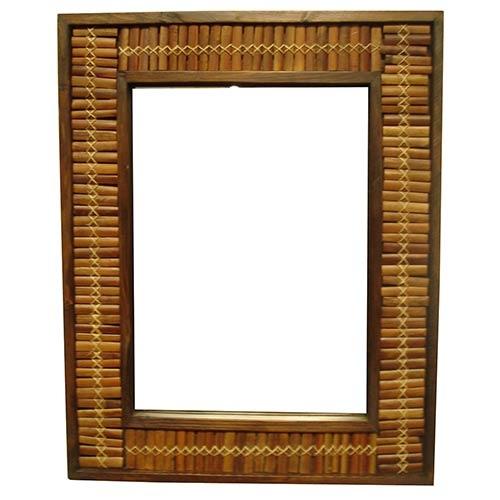 Espelho de Bambu Trama Médio Greenway - 90x70 cm