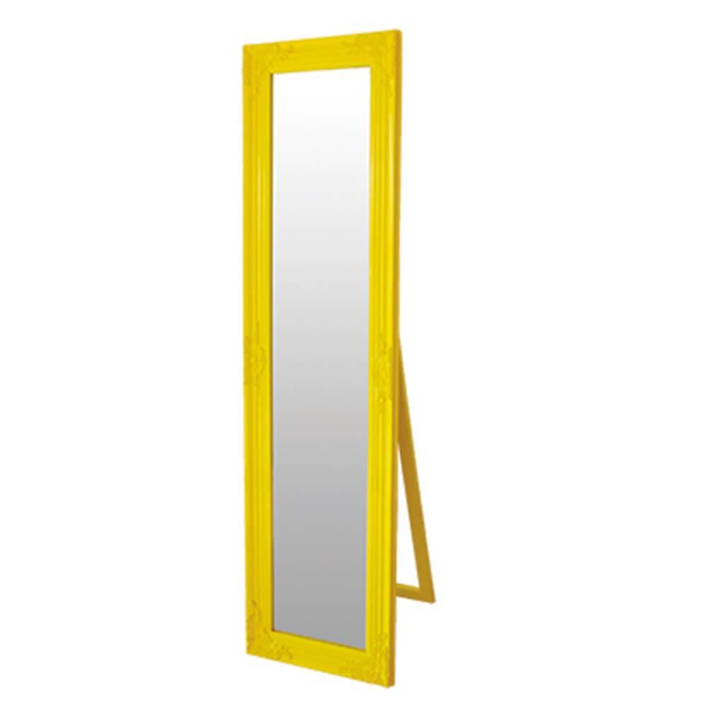 Espelho Baroque Frame Amarelo em MDF - Urban - 164x43,5 cm