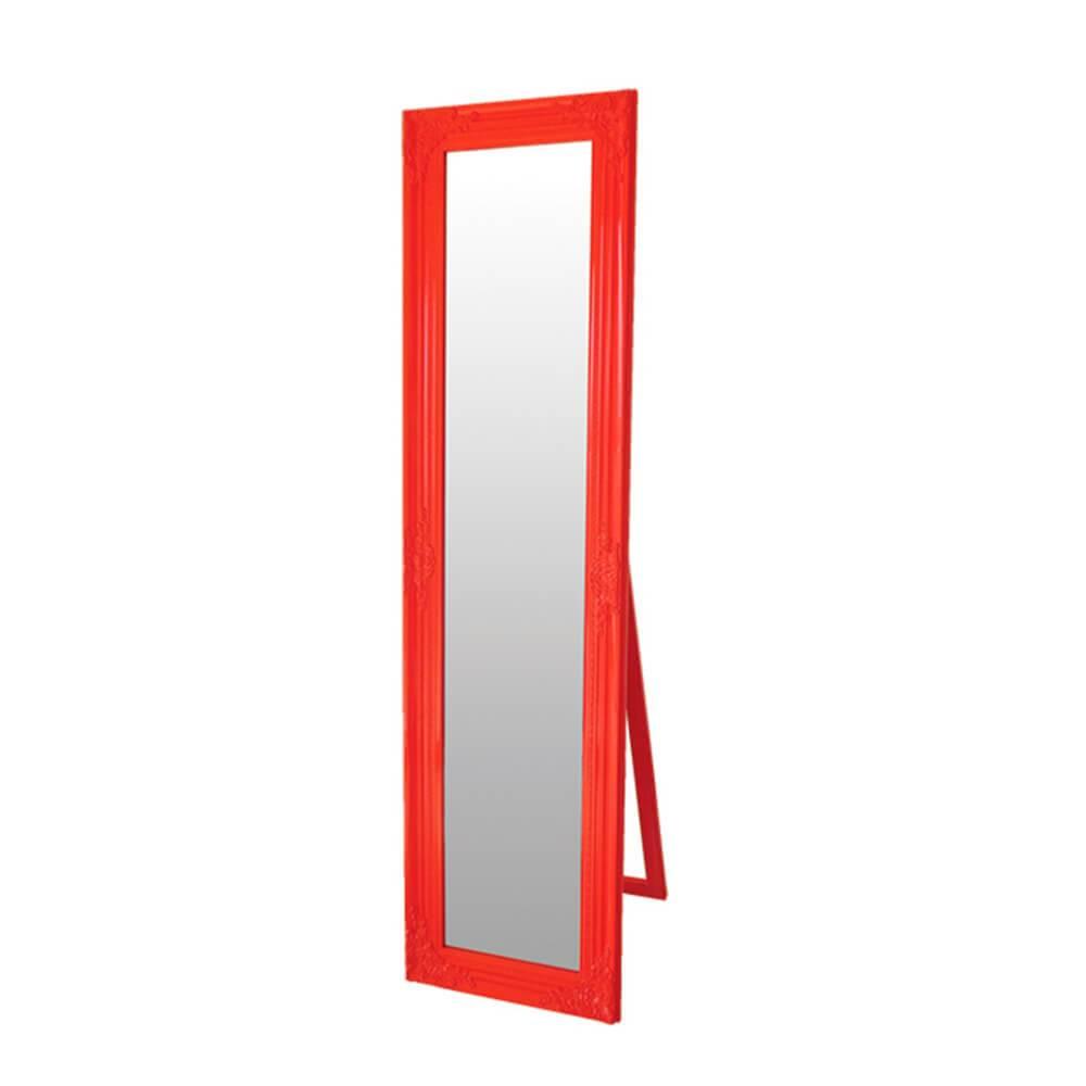 Espelho Baroque Frame Vermelho em MDF - Urban - 164x43,5 cm
