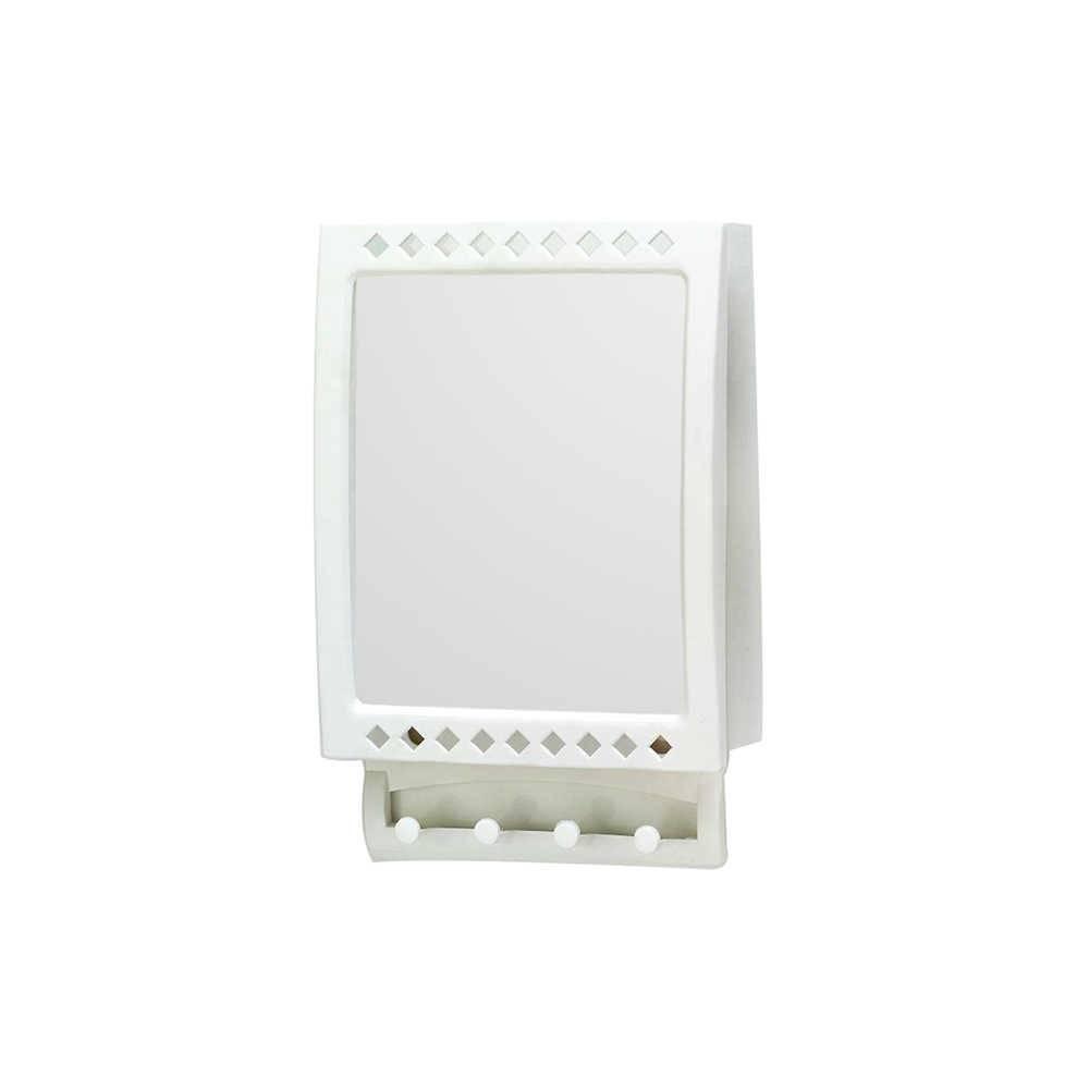 Espelho Branco Anti Embaçante em Vidro - Urban - 23x14 cm