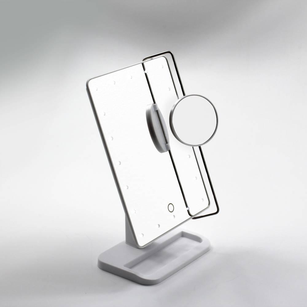 Espelho com Luz, Sensor e Espelho de Aumento - Prestige - 32x21 cm
