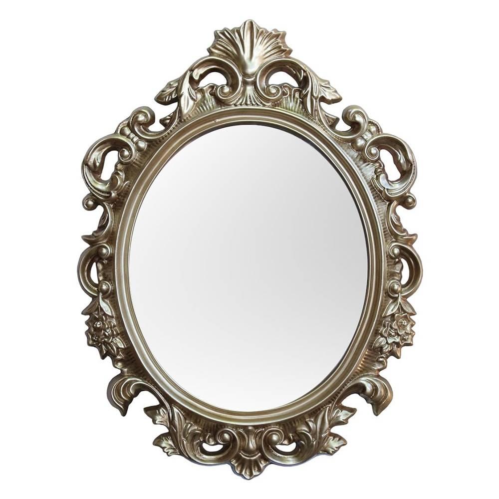 Espelho Cannes Dourado com Moldura em Resina - 94x69 cm