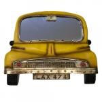 Espelho carro amarelo