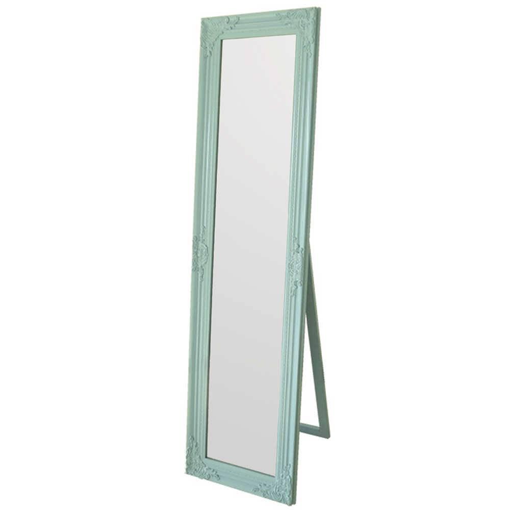 Espelho de Chão Baroque Frame Azul em MDF - Urban - 164x43,5 cm