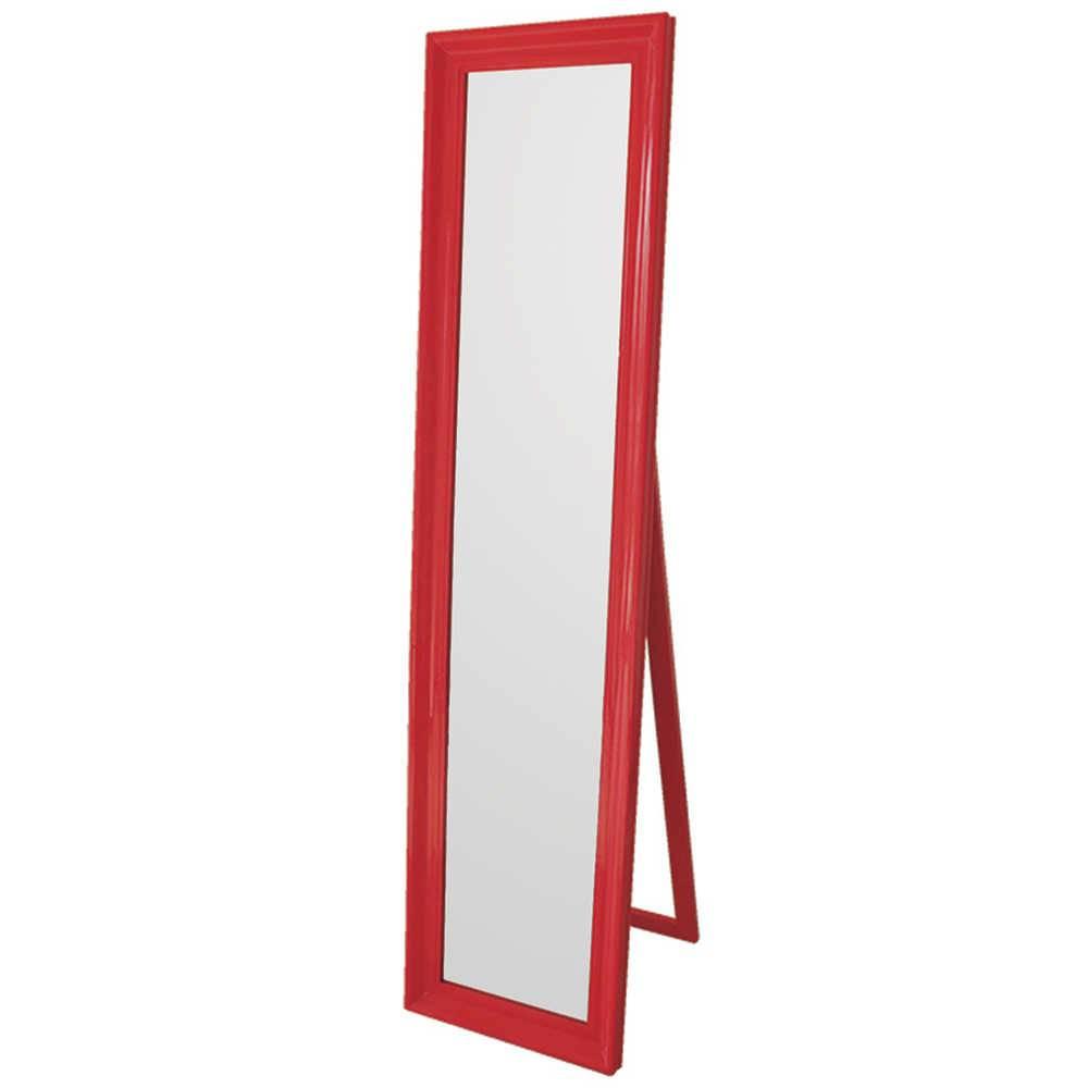 Espelho de Chão Classic Frame Vermelho em MDF - Urban - 160x40 cm
