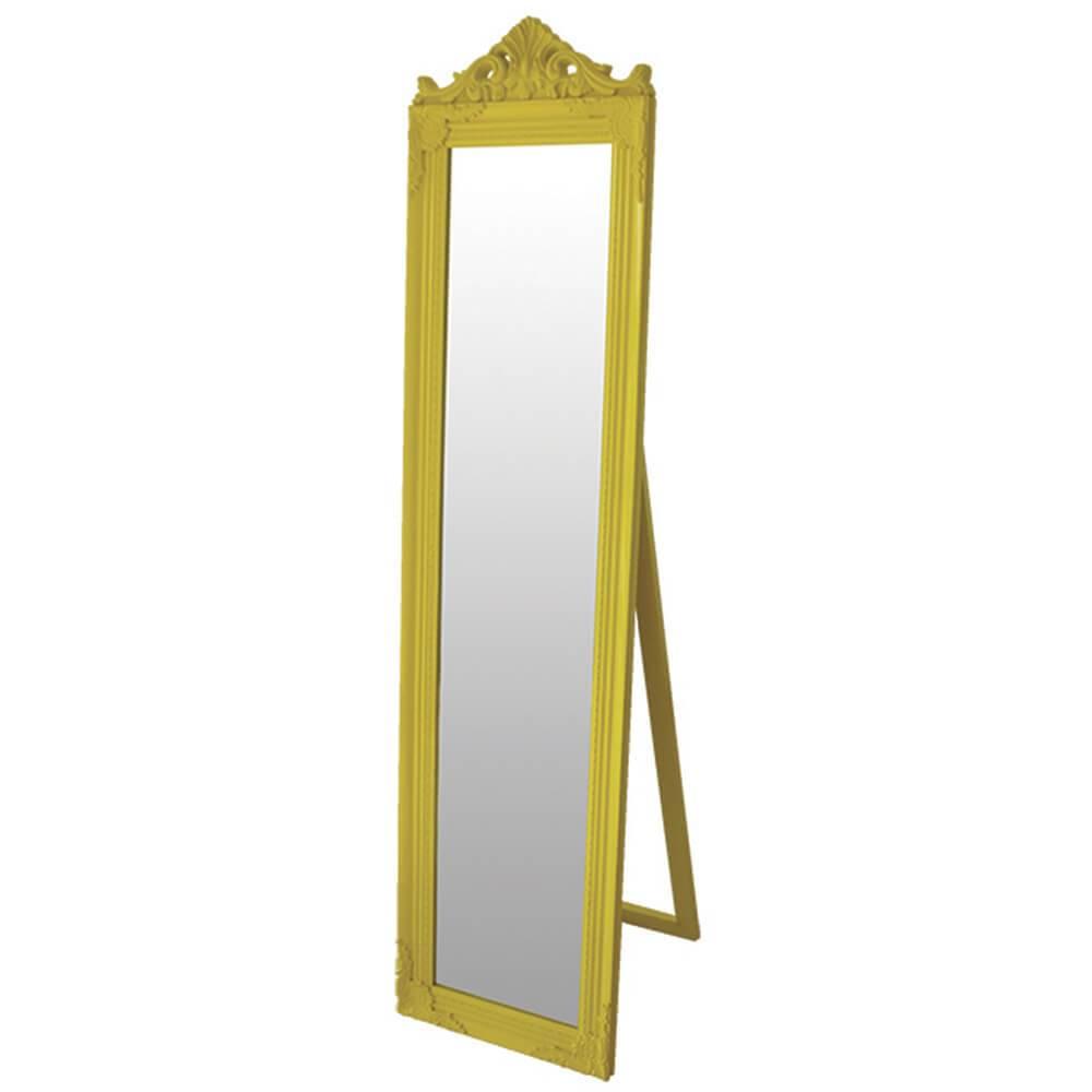 Espelho de Chão Majesty Frame Amarelo em MDF - Urban - 160x40 cm