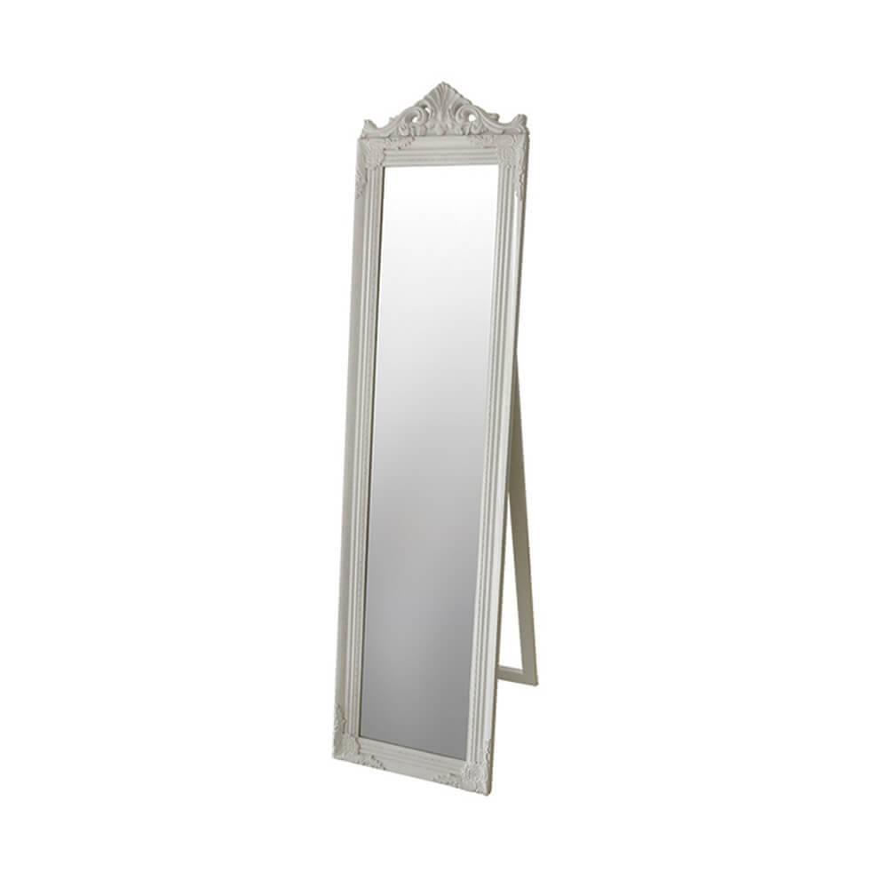Espelho de Chão Majesty Frame Branco em MDF - Urban - 160x40 cm