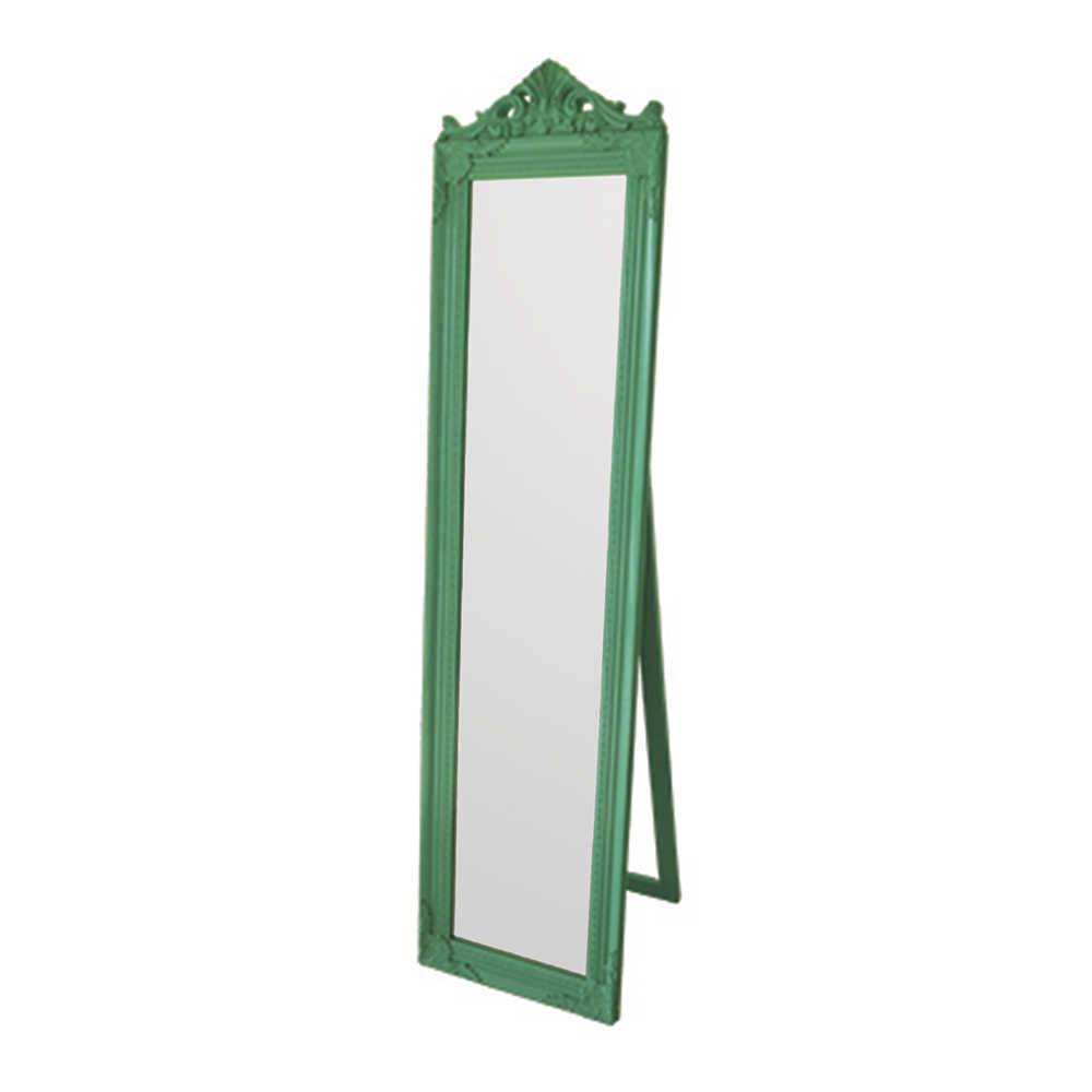 Espelho de Chão Majesty Frame Green em MDF - Urban - 160x40 cm