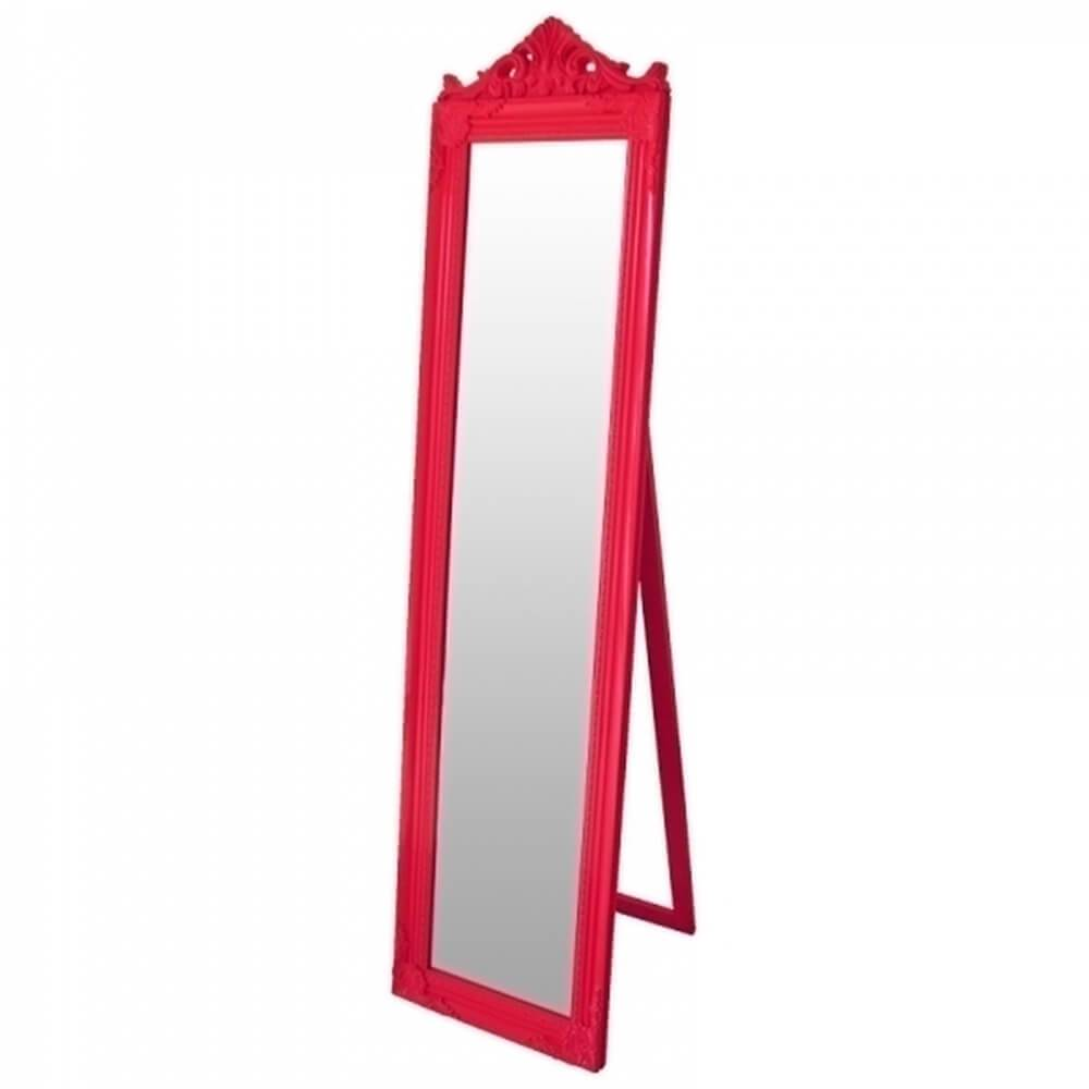 Espelho de Chão Majesty Frame Pink em MDF - Urban - 160x40 cm