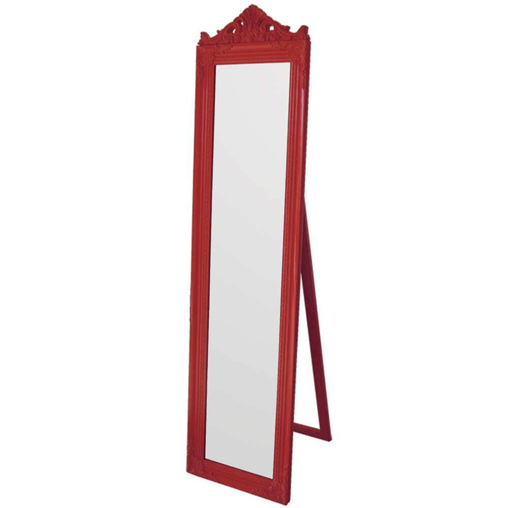 Espelho de Chão Majesty Frame Vermelho em MDF - Urban - 160x40 cm
