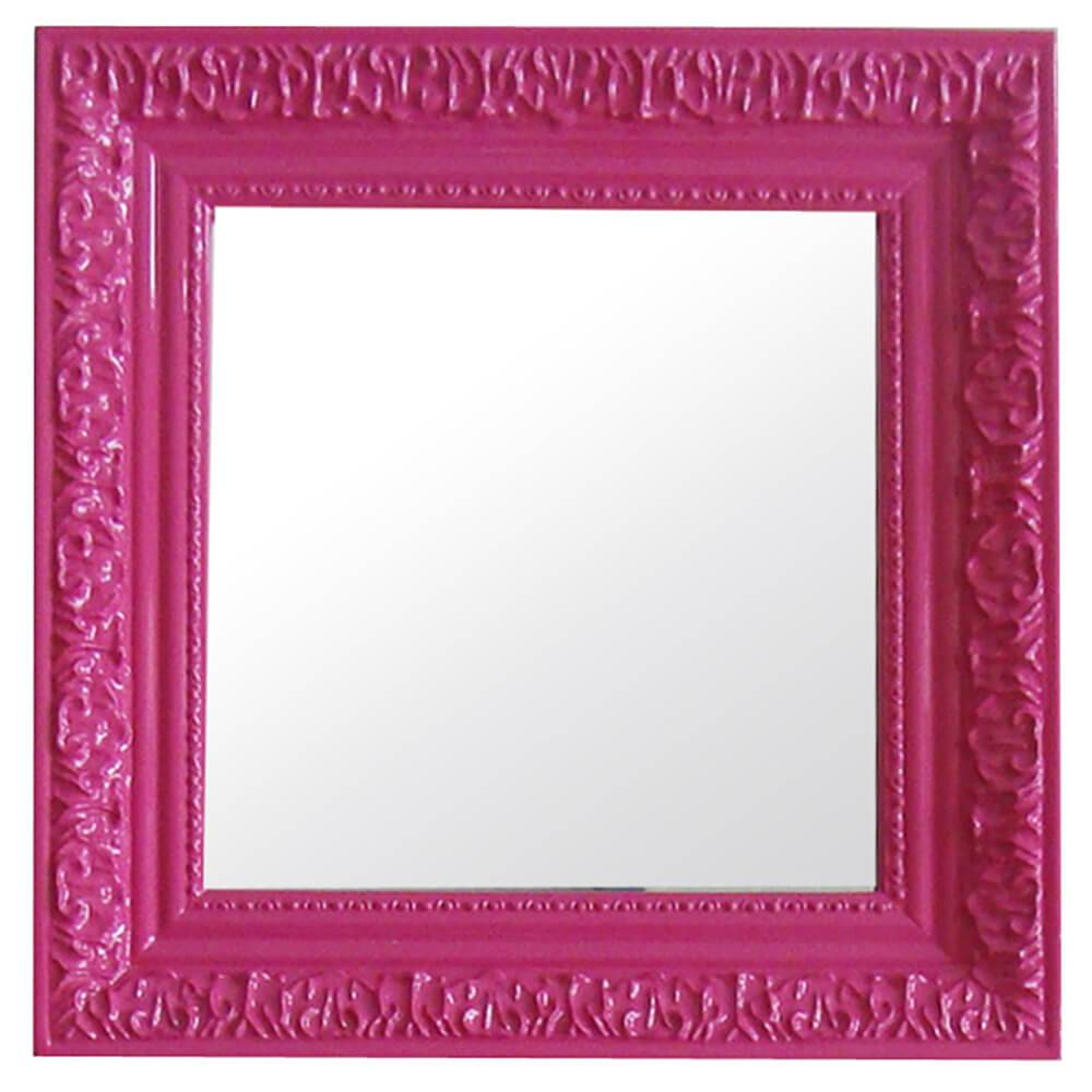 Espelho Charm Quadrado Pink em MDF - Urban - 30x30 cm