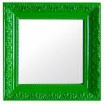 Espelho Charm Quadrado Verde em MDF - Urban - 30x30 cm