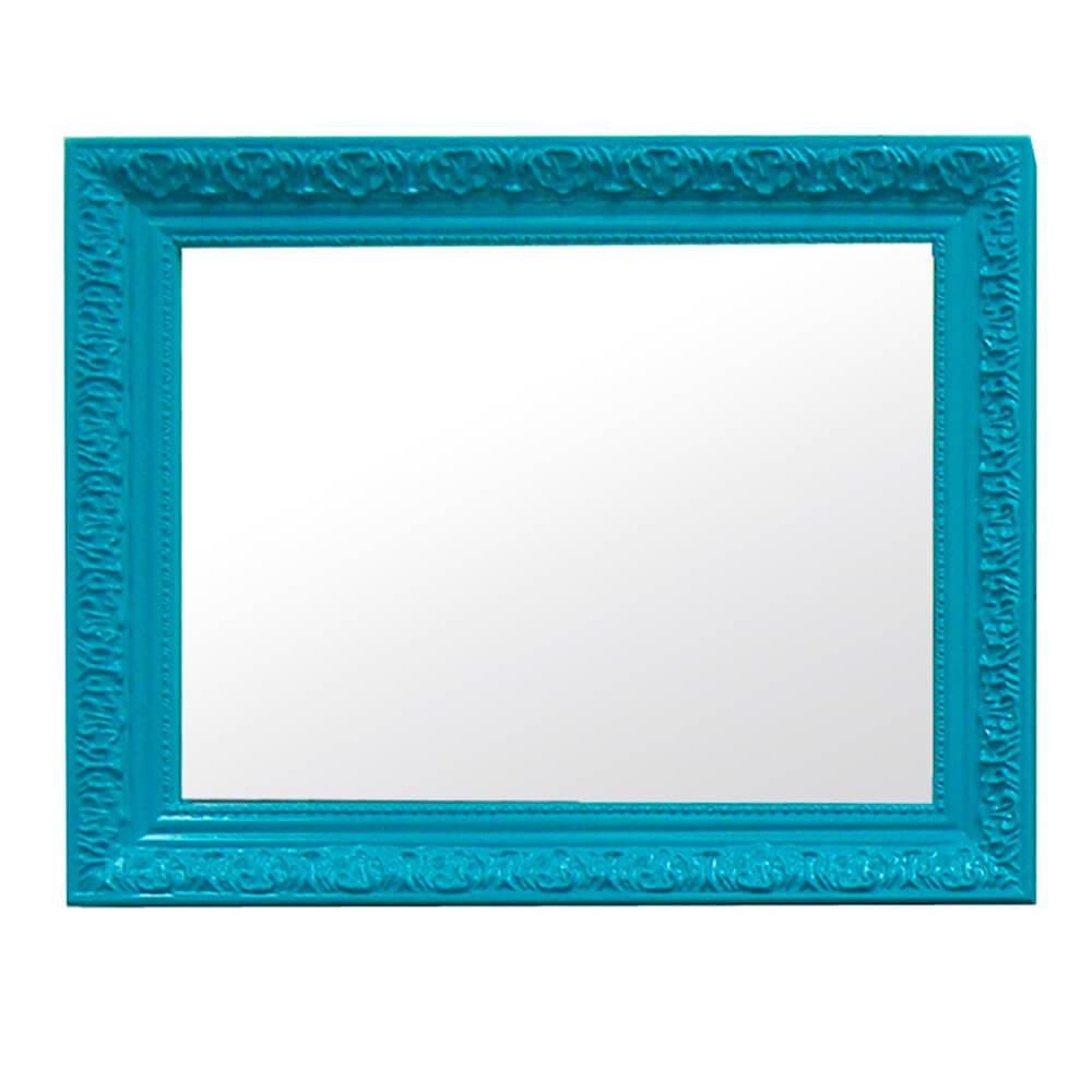 Espelho Charm Retangular Azul em MDF - Urban - 48x38 cm