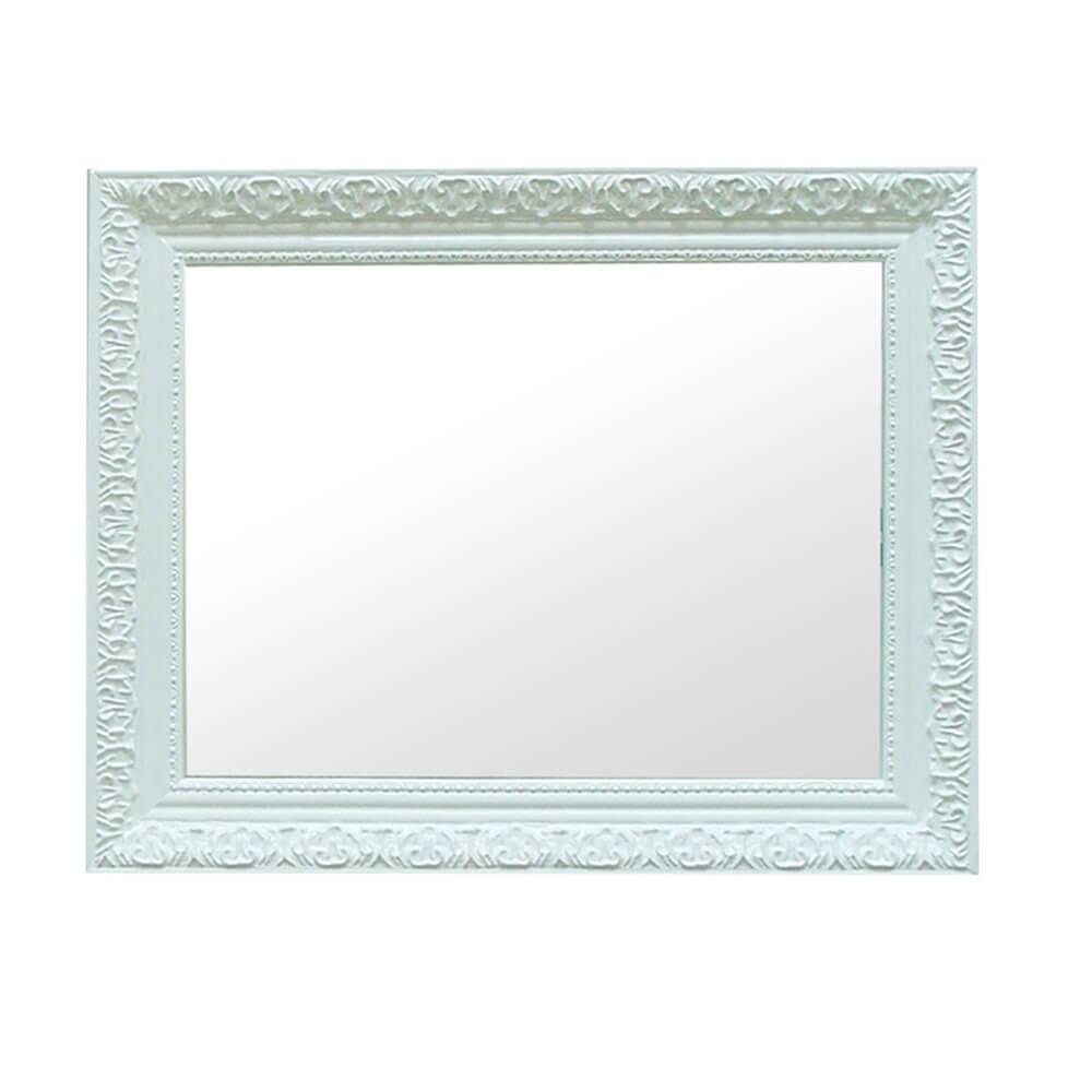 Espelho Charm Retangular Branco em MDF - Urban - 48x38 cm