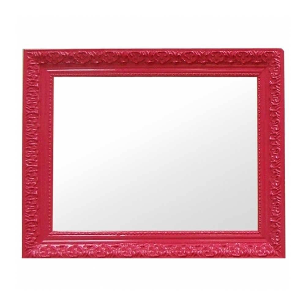 Espelho Charm Retangular Pink em MDF - Urban - 48x38 cm