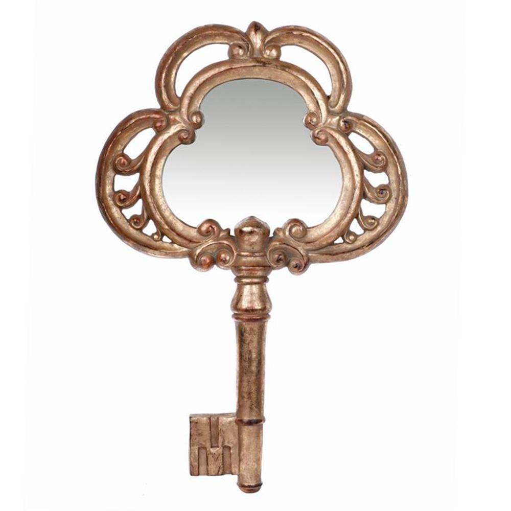 Espelho Chave Moldura Detalhada em Metal - 30x20 cm