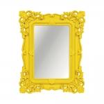 Espelho Classic Arabescos Amarelo Médio Retangular