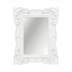 Espelho Classic Arabescos Branco Médio Retangular