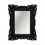 Espelho Classic Arabescos Preto Retangular - 32x26 cm
