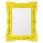 Espelho Classic Design Amarelo Médio - 24x19 cm
