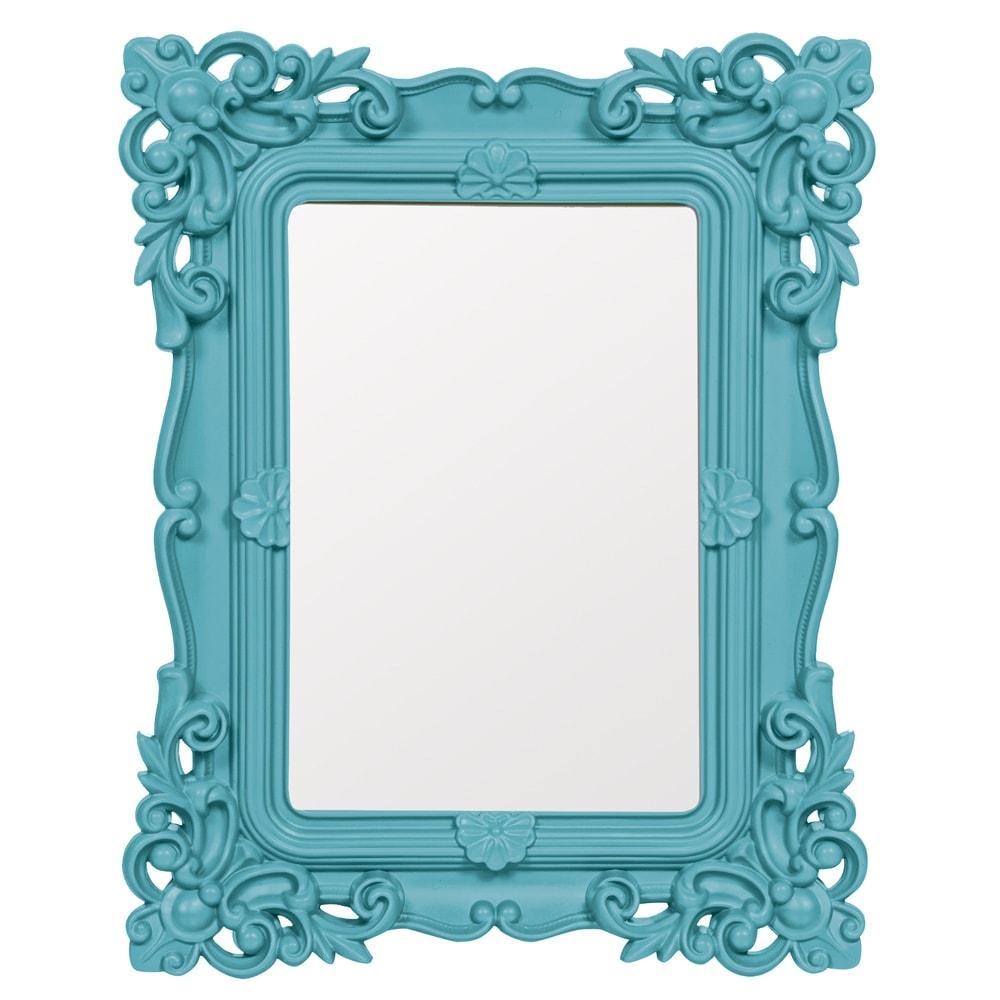 Espelho Classic Design Azul Médio - 24x19 cm