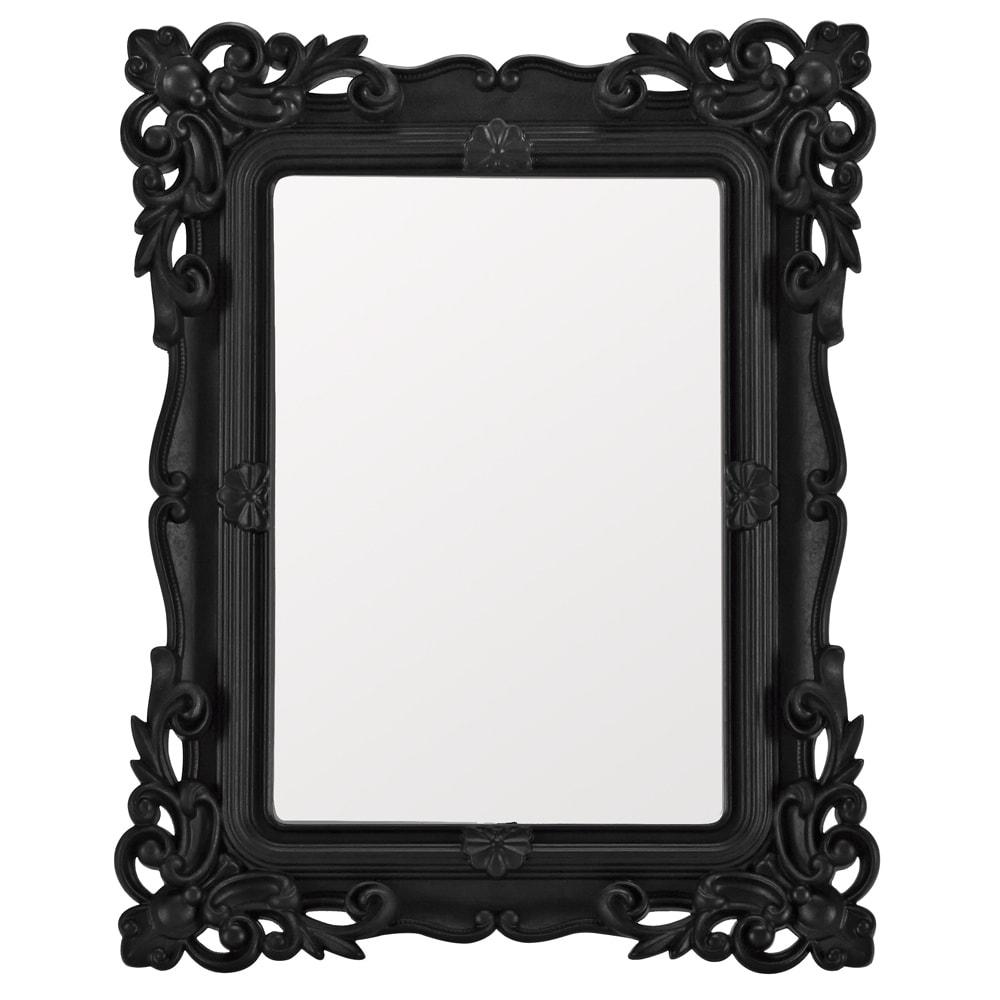 Espelho Classic Design Preto Pequeno - 21,5x16,5 cm