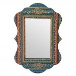 Espelho Colorido com Moldura Revestida em Tecido