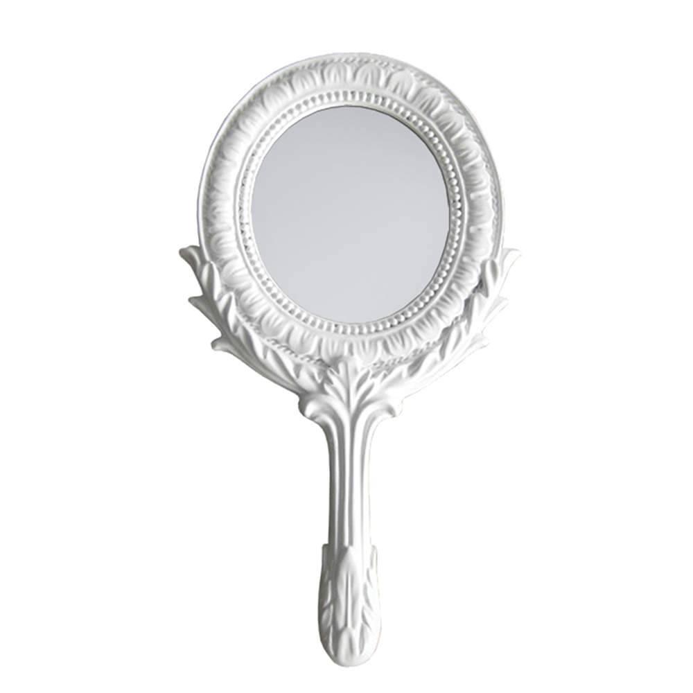 Espelho Combers Grego Branco em Resina - Urban - 25,5x12,5 cm