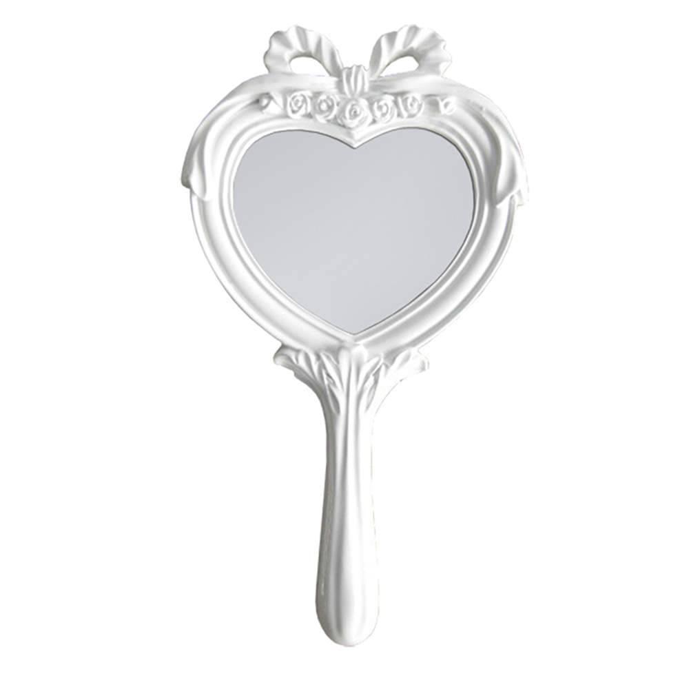Espelho Combers Heart Branco em Resina - Urban - 26x14 cm
