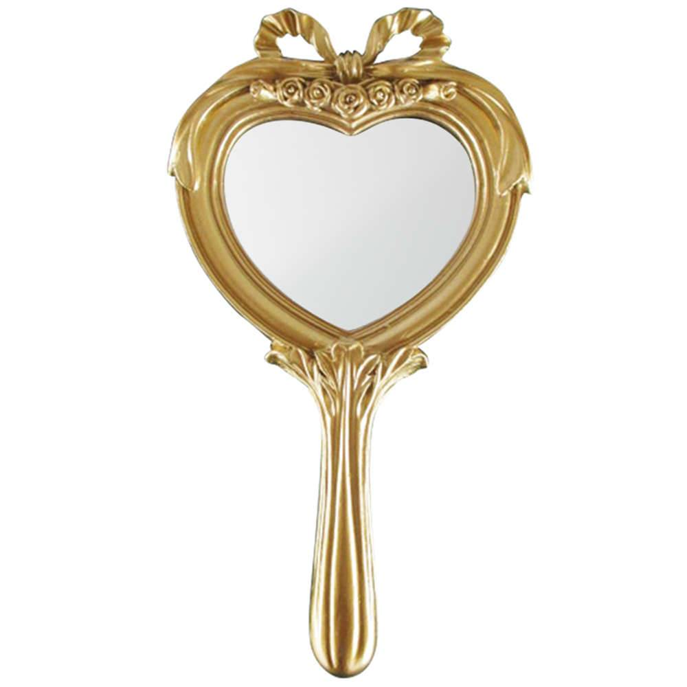 Espelho Combers Heart Dourado em Resina - Urban - 26x14 cm
