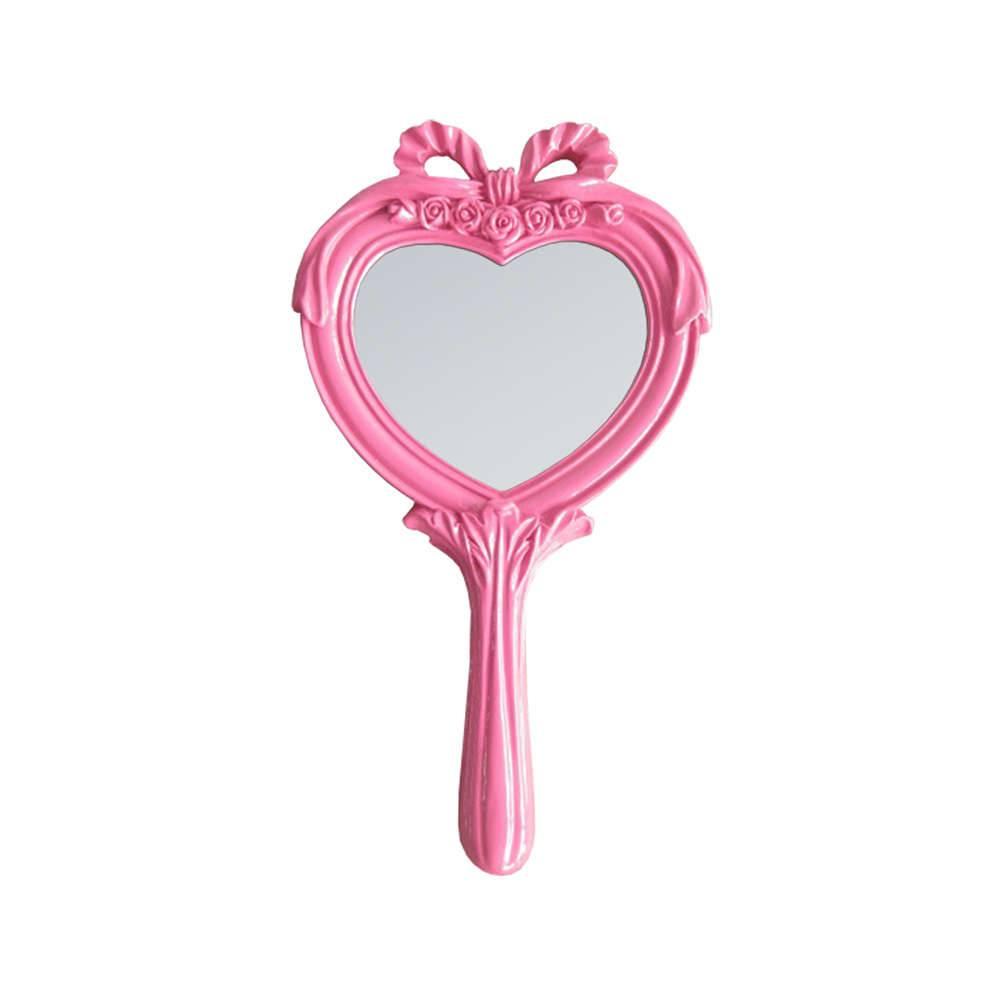 Espelho Combers Heart Pink em Resina - Urban - 26x14 cm