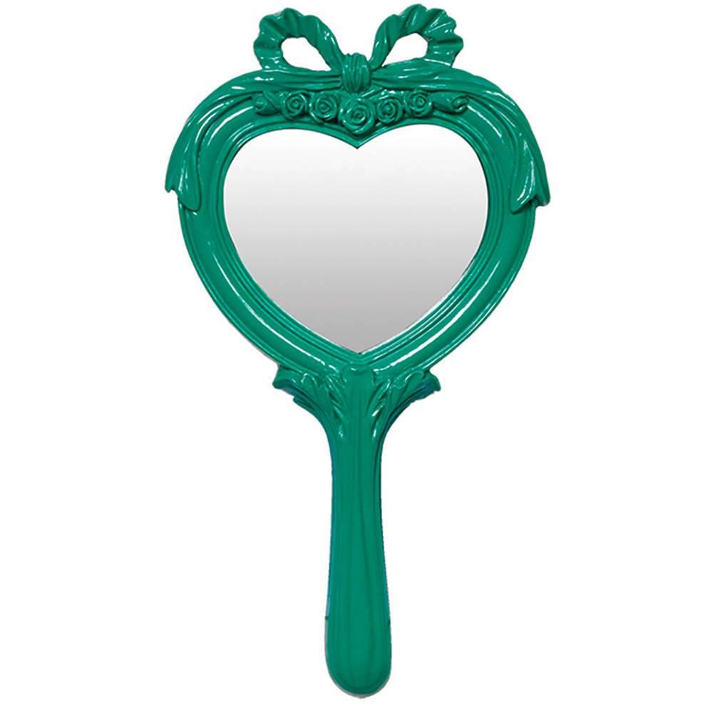 Espelho Combers Heart Verde em Resina - Urban - 26x14 cm