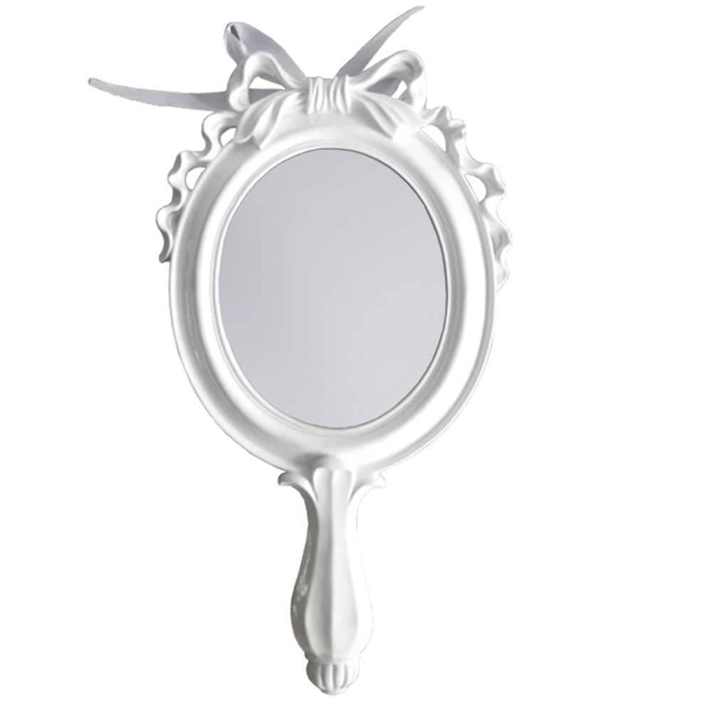 Espelho Combers Laço Médio Branco em Resina - Urban - 45x24,5 cm