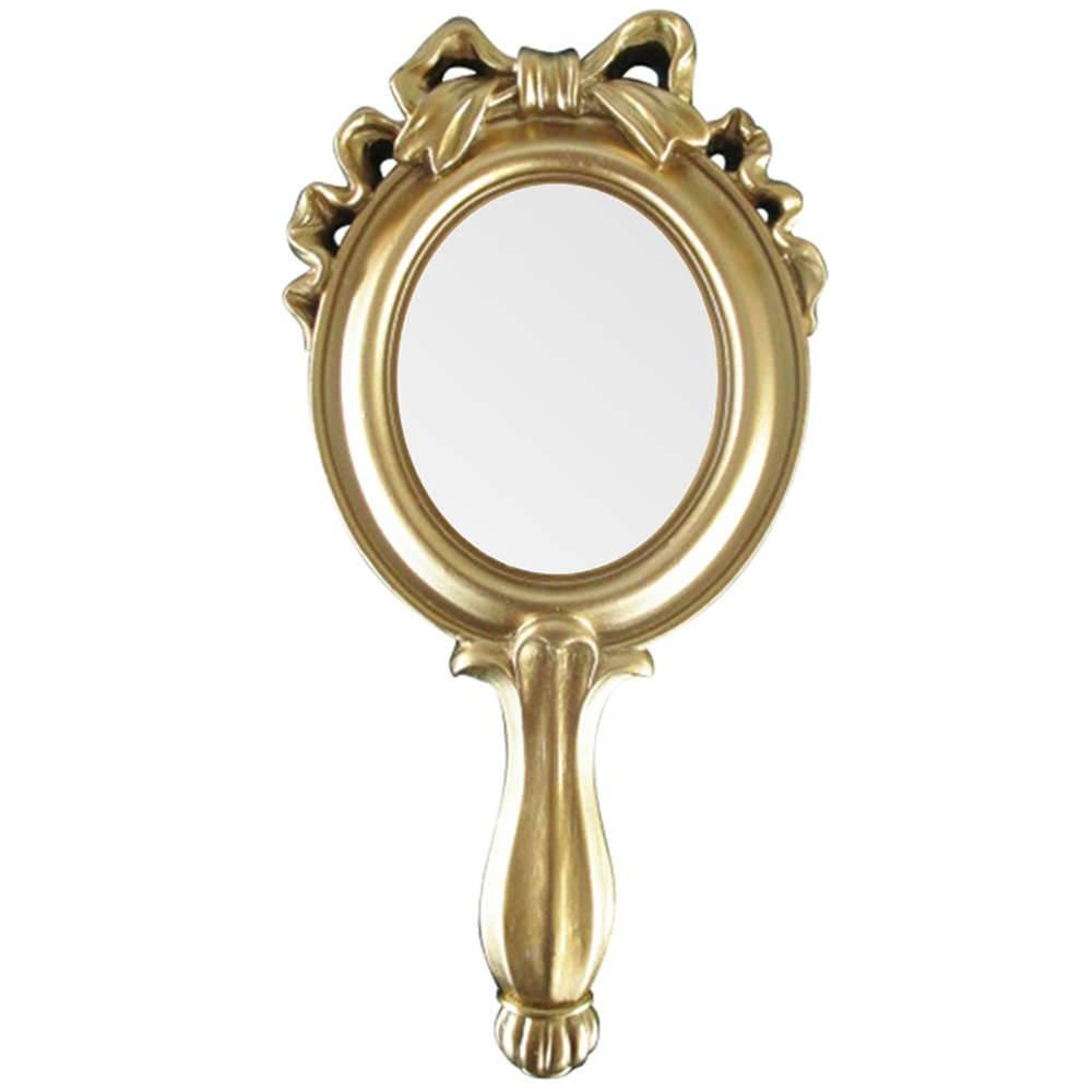 Espelho Combers Laço Pequeno Dourado em Resina - Urban - 25x12,5 cm